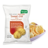 Chips soja hyperprotéinées sweet chili   /   30 G   -   HIGH PROTEIN